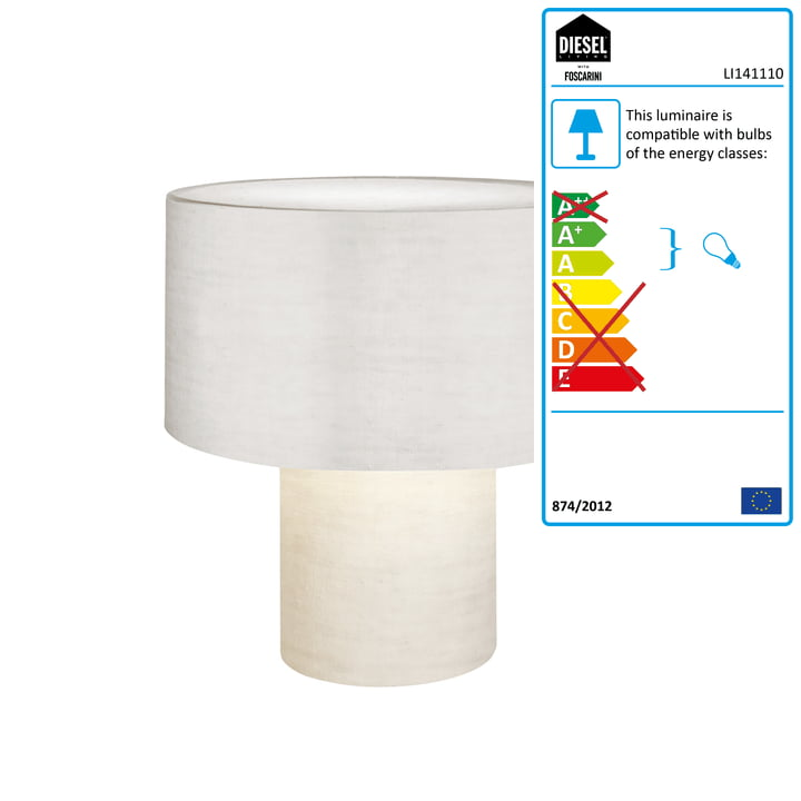 Diesel Living - Pipe Table Lamp, white