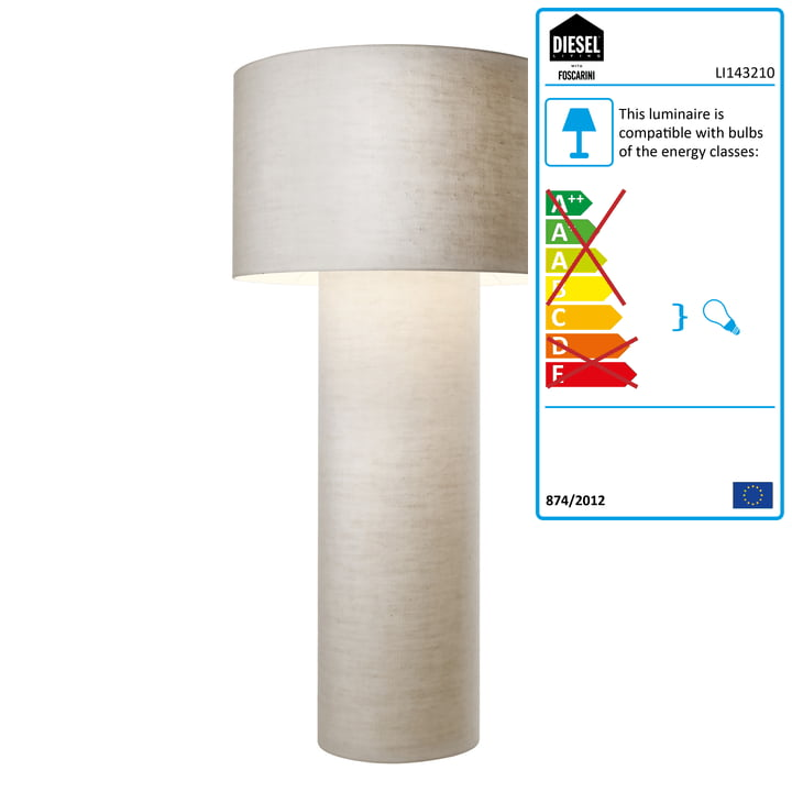 Diesel Living - Pipe Floor Lamp, media, weiß