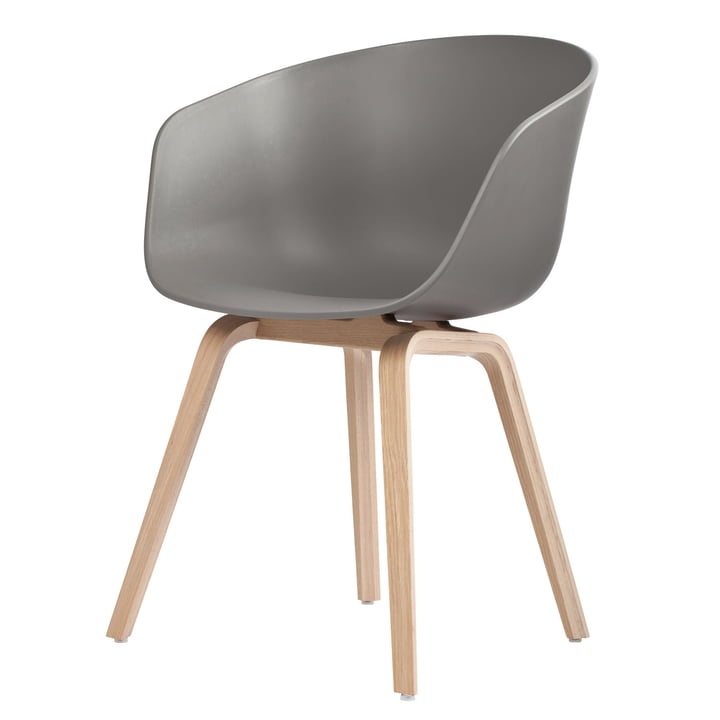 About A Chair AAC 22 by Hay in soaped oak / grey