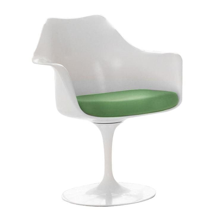 Knoll - Saarinen Tulip chair, swivel, seat cushion avocado