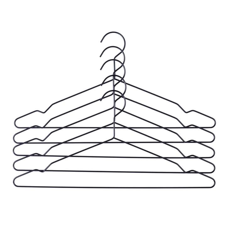 Hay - Hang hangers set of 5, black
