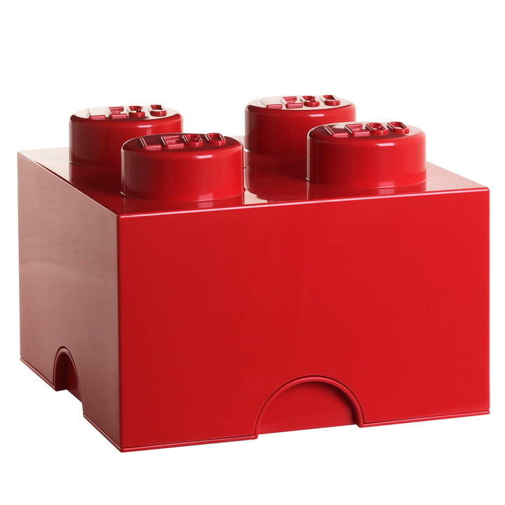 Storage Brick 4 from Lego in red