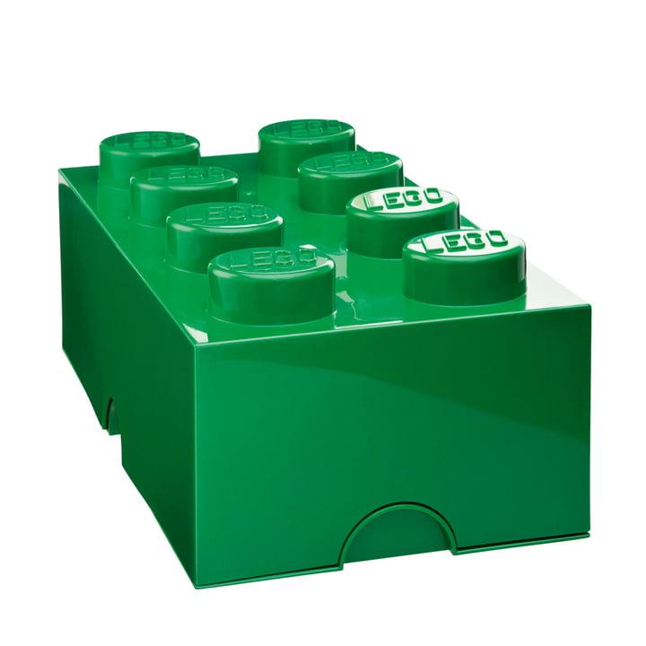 Lego - Storage Box 8, dark green