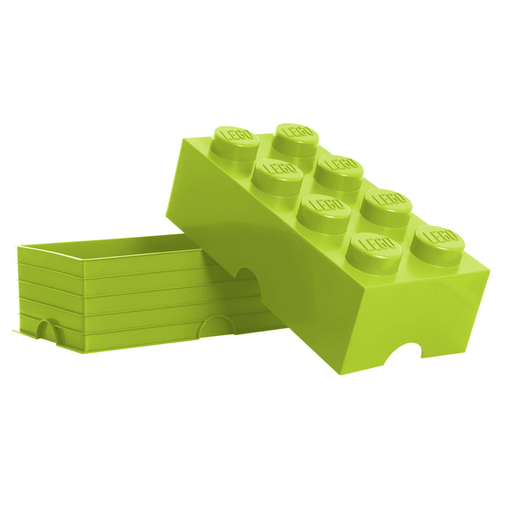 Lego - Storage Box 8, light green - open