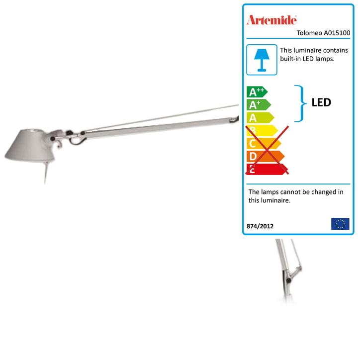 Artemide - Tolomeo Midi LED, Body Aluminium