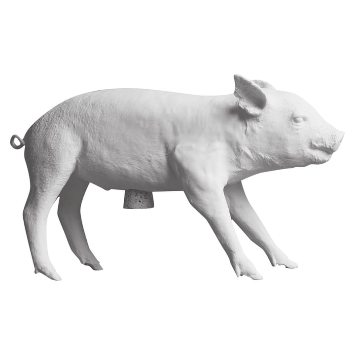 The Pig Bank piggy bank from Areaware , white matt