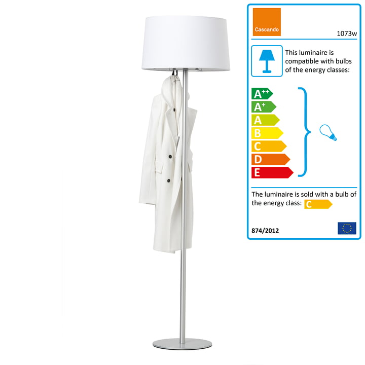 Cascando - Coat Lamp, white