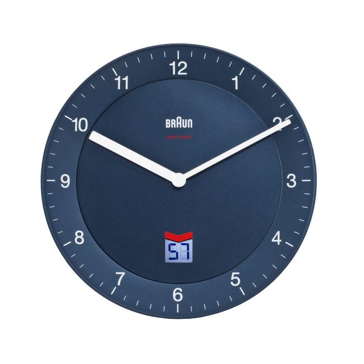 Braun - Analogue Radio Controlled Wall Clock BNC006, blue