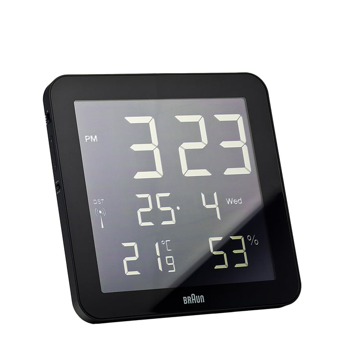 Braun - Digital radio Wall Clock BNC014-RC, black