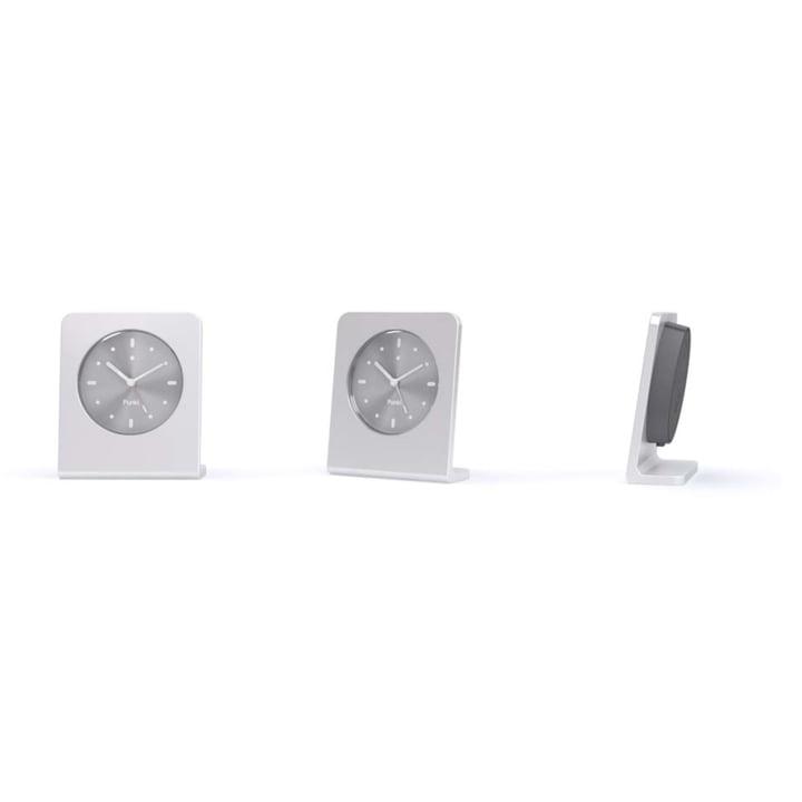 Punkt. - Analog Alarm Clock AC 01, silver anodized