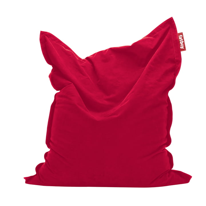 Original stonewashed beanbag by Fatboy in red