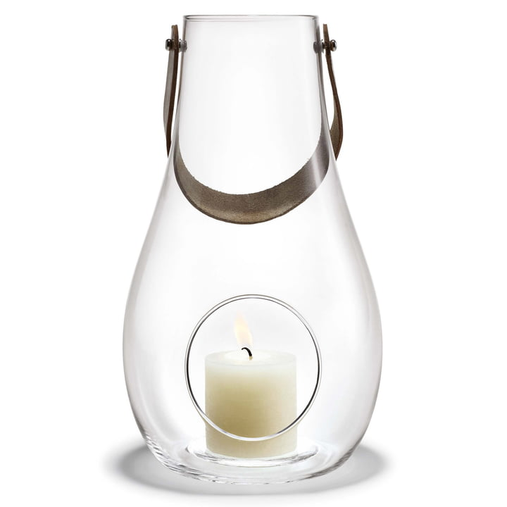 Design with light lantern H 45 cm from Holmegaard in clear