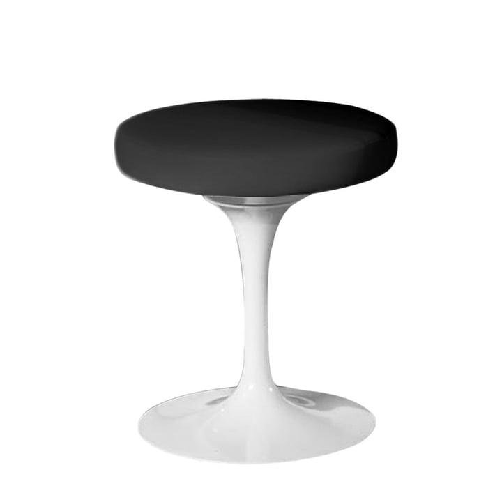 Knoll - Saarinen Tulip Stool rotatable, white / black