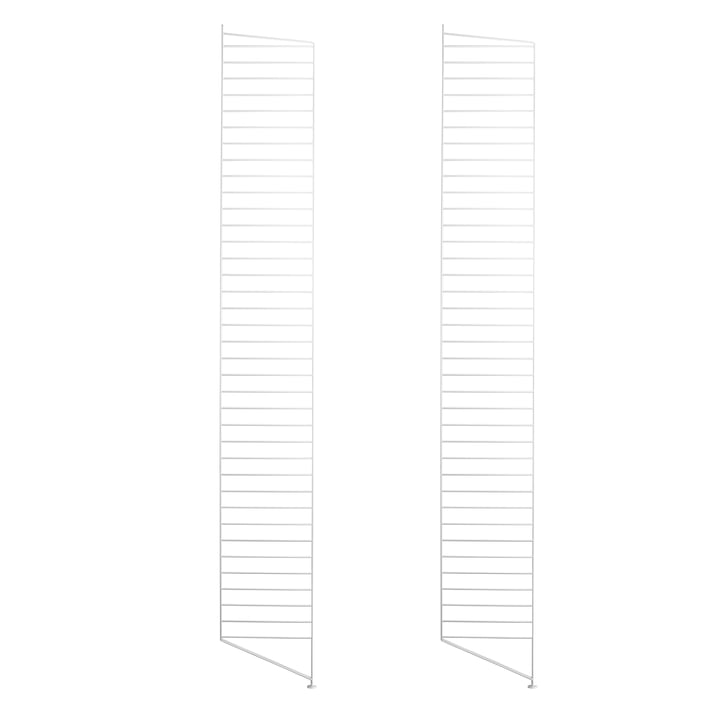 Set of 2 String floor panels for shelving system, 200 cm, white
