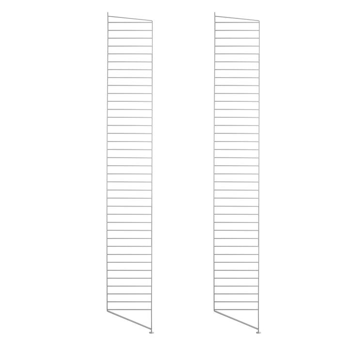 Set of 2 Floor panel for String shelf 200 cm, grey