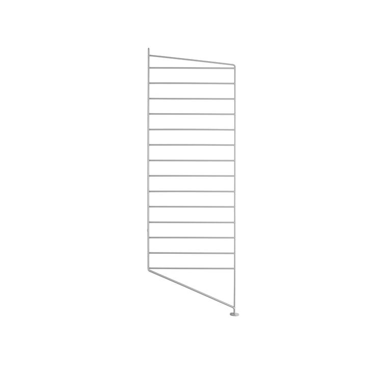 2 String floor panels for shelving, 85cm, grey