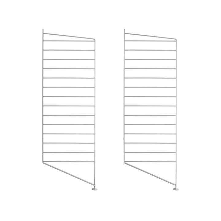 Set of 2 Floor panels for String Regal 85cm - grey