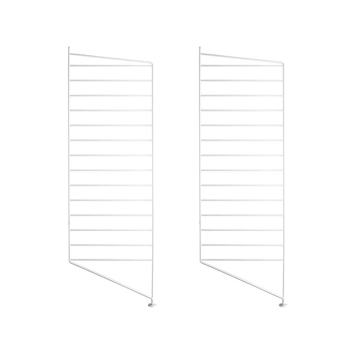 Set of 2 by String floor panel for shelving system, 85 cm, white