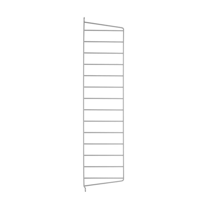 Wall ladder for string shelf 75 cm from string in grey