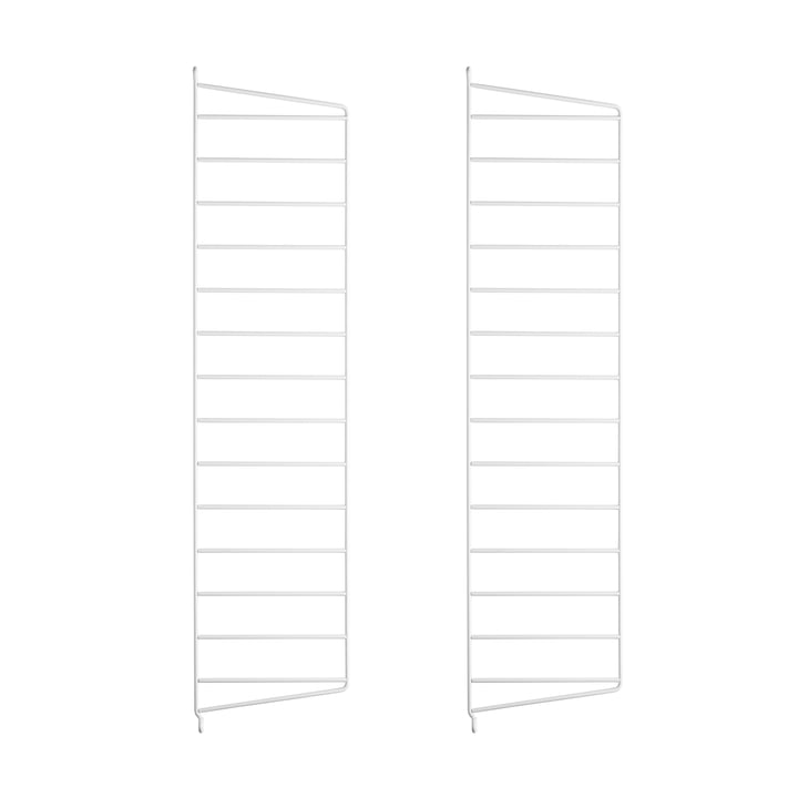 Wall ladder for string shelf 75 cm (2-pack) of string in white