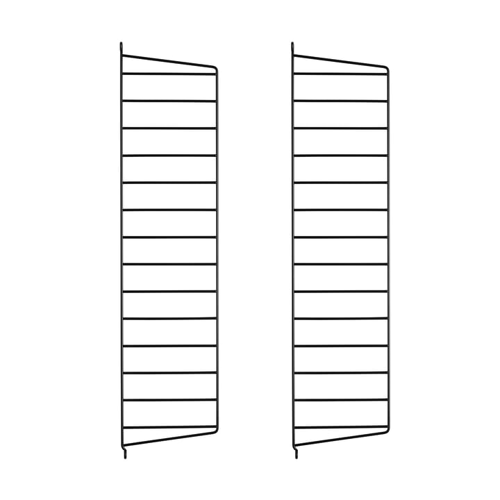 Wall Ladder for String Shelf 75 cm from String in Black (2-pack)