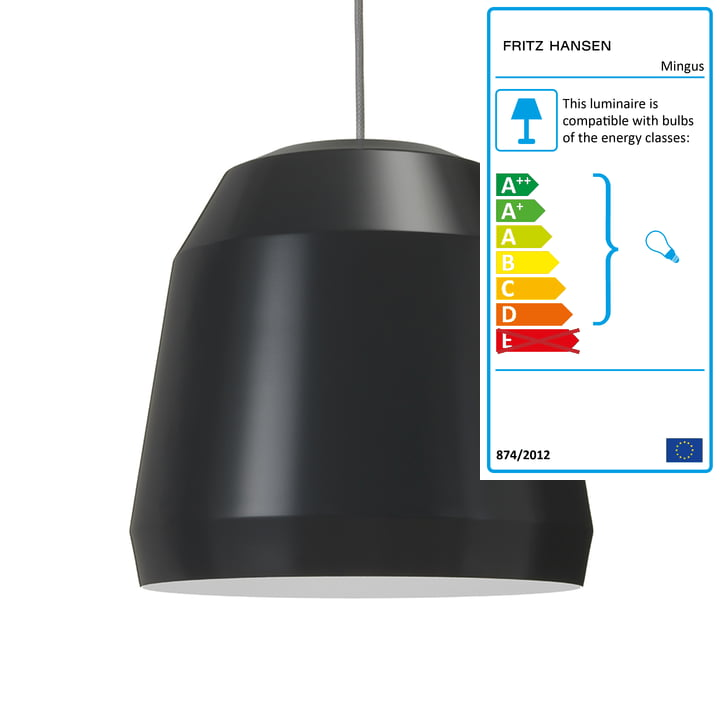 Mingus Pendant Lamp P2 by Fritz Hansen in Nearly Black