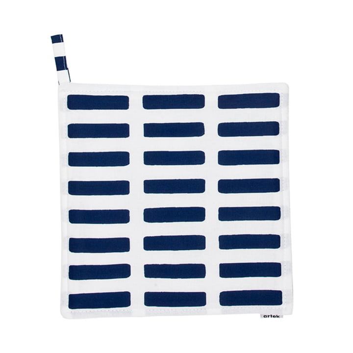 Artek - Siena pot holder, white/ blue