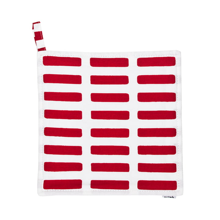 Artek - Siena pot holder, red/ white