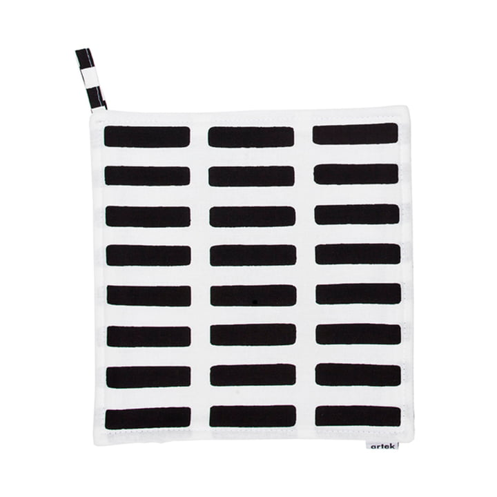 Artek - Siena pot holder, white/ black