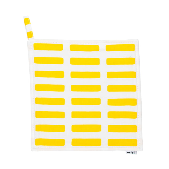 Artek - Siena pot holder, white/ yellow
