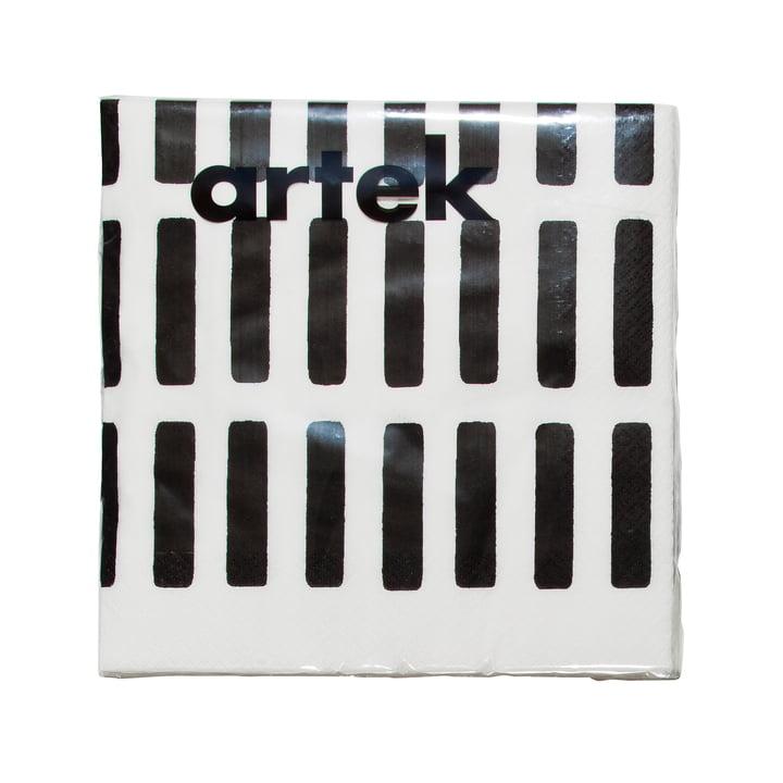 Artek - Siena paper napkin, large, white/ black