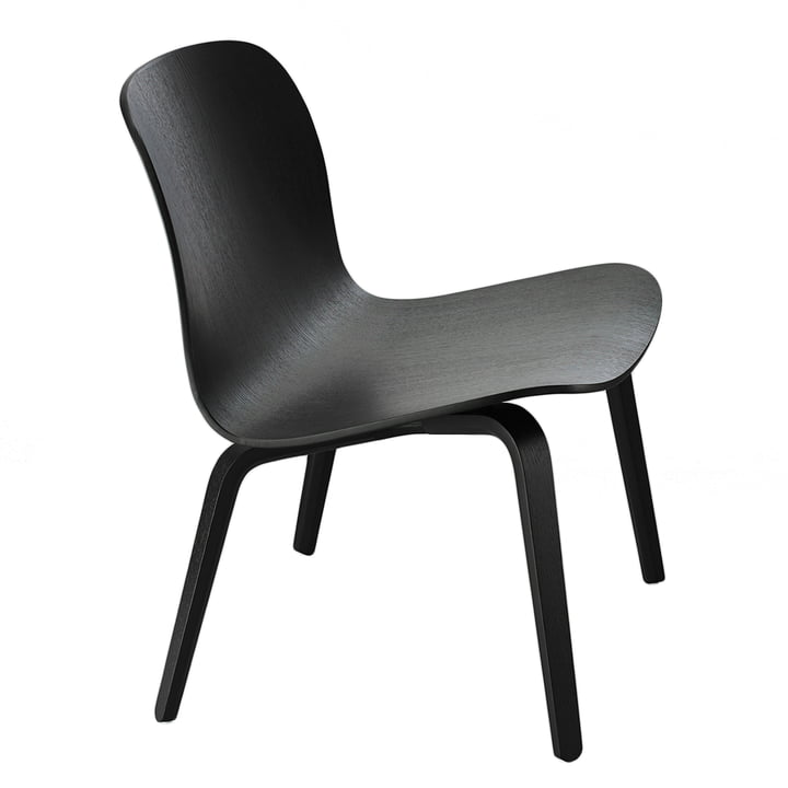 Muuto - Visu Lounge Chair, upholstered, black