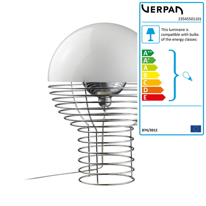 Wire table lamp Ø 30 cm from Verpan in white