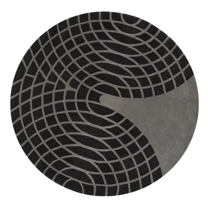 Verpan - Panton rug Ø 220 cm, dark grey/ light grey