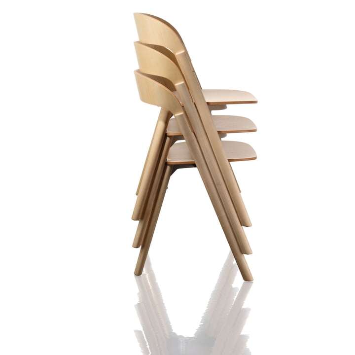 Magis - Pila Chair, ash nature - stacked