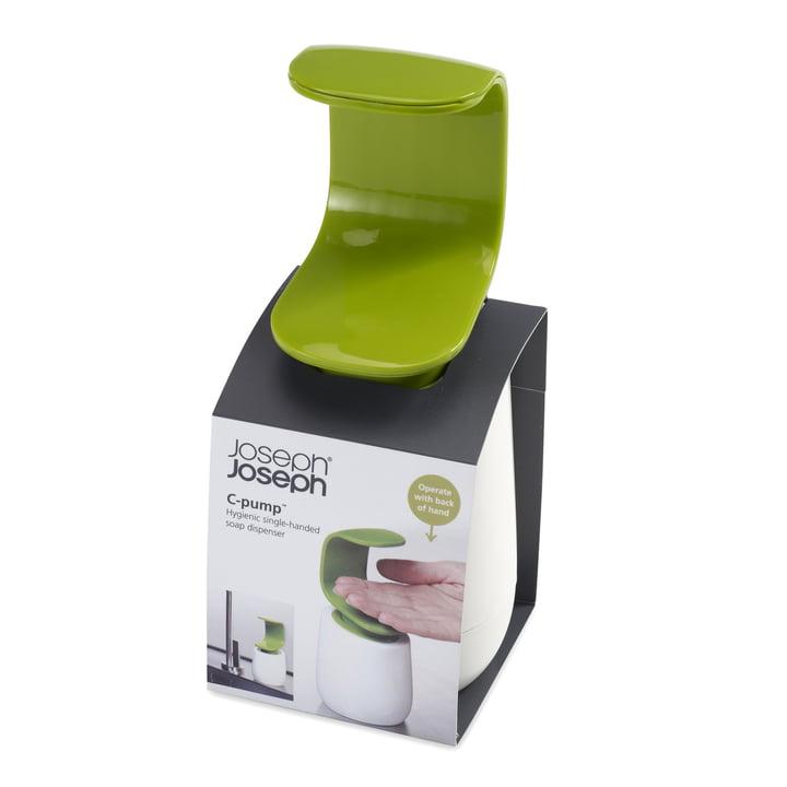 Joseph Joseph - C-pump soap dispenser, white/ green - box
