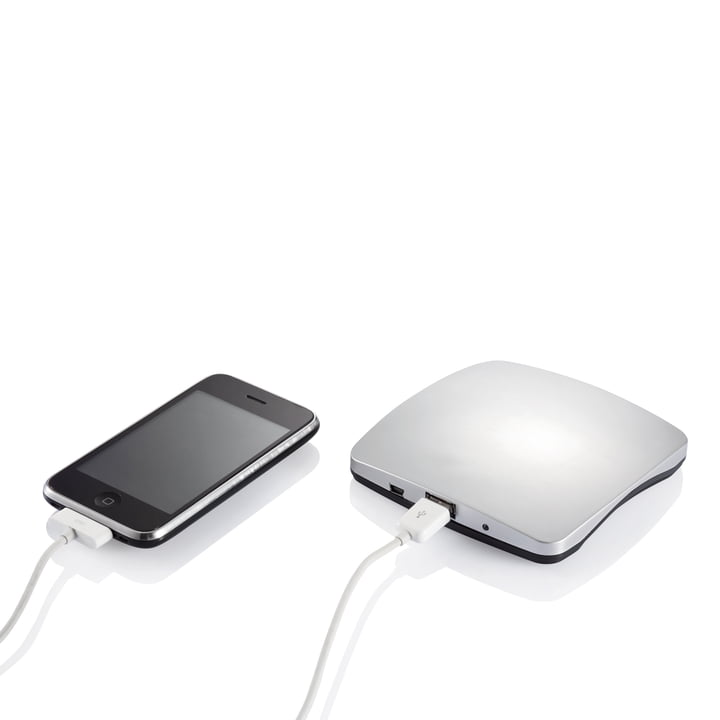 XD Design - Window Solar Charger, silver - charging