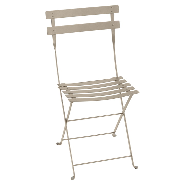 Bistro Fermob metal folding chair in nutmeg