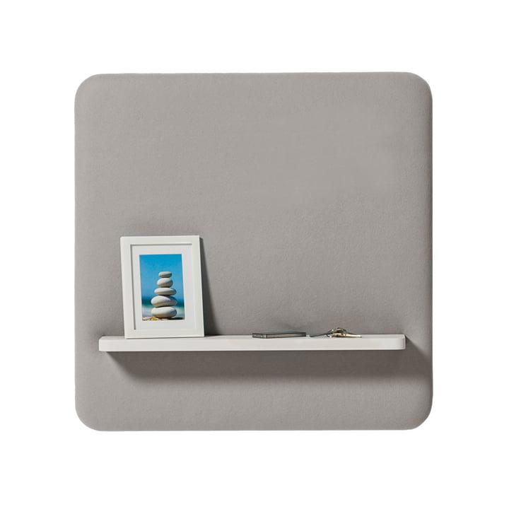 Cascando - Pillow Panel with shelf (D = 15 cm), 80 x 80 cm