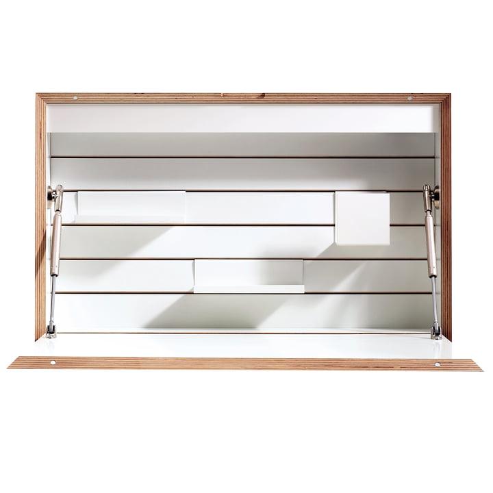 Müller Möbelwerkstätten - Flatbox, white - open, front