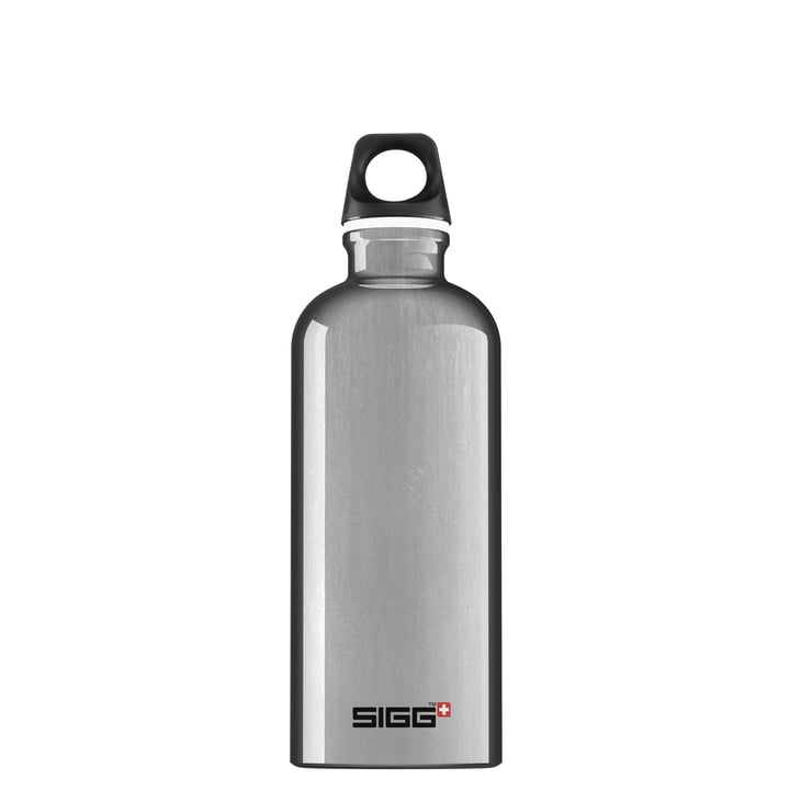 Traveller drinking bottle 0,6 l from Sigg in aluminium silver