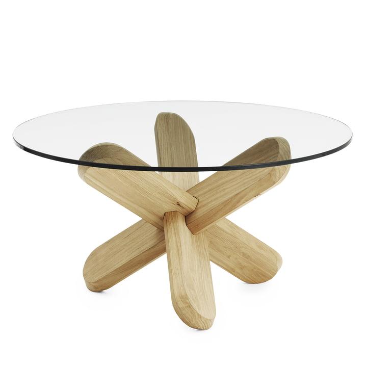 Normann Copenhagen - Ding coffee table, glass, oak