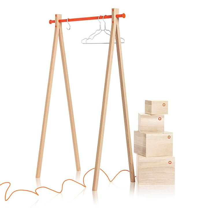 Nomess - Dress-Up, ash, orange, 90 cm with Balsa Boxes