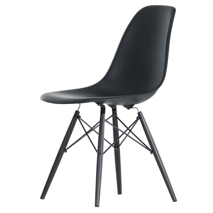Vitra - Eames Plastic Side Chair DSW, black maple / basic dark
