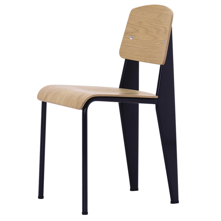 Vitra - Standard Chair, bright oak wood, black