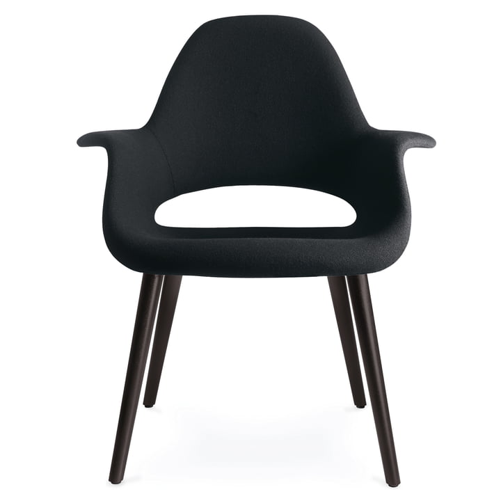 Vitra - Organic Chair, nero / black ash wood