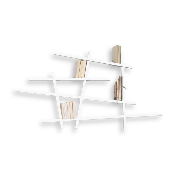 Edition Compagnie - Mikado bookshelf, small, white