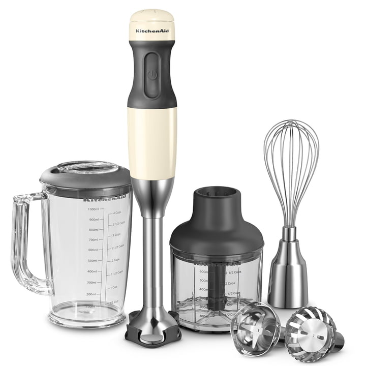 KitchenAid - Hand blender with 5 velocity l. - w. accessories