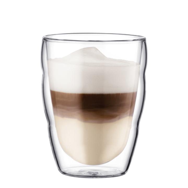 Bodum Pilatus Drinking Glass with coffee, 0.25l