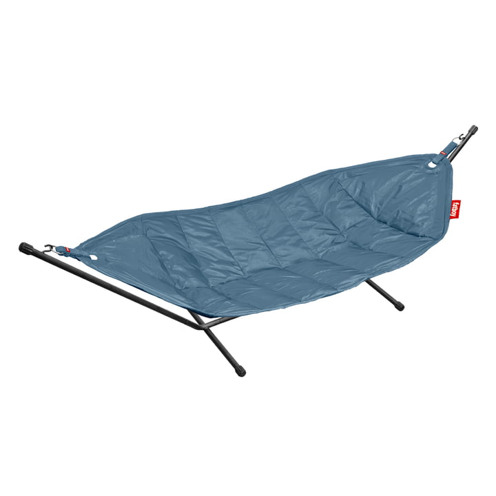 fatboy hammock, jeans light blue / black frame